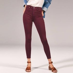 Abercrombie & Fitch High Rise Ankle Jean Leggings